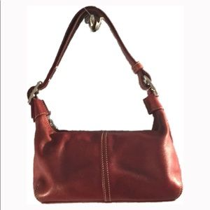 🆕 COACH G33-9564 Red Leather Hobo